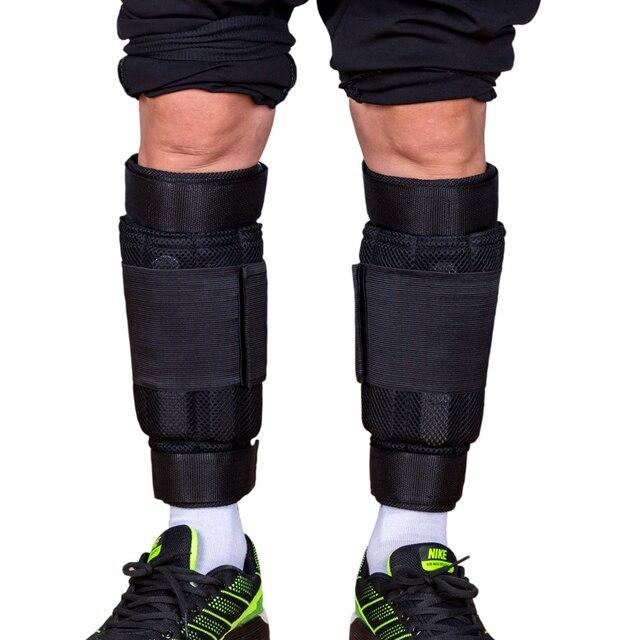 新しい調節可能な足首重量サポートブレースストラップ肥厚脚筋力トレーニングショックガードジムフィットネスギア1 6キロのみストラップ