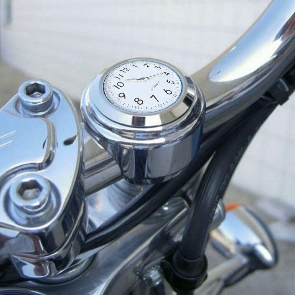 Universal 7/8 impermeable de la bici de la motocicleta del montaje del manillar de reloj de aleación de aluminio Durable Moto accesorios de bloqueado a manillar