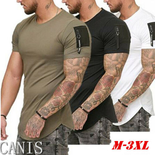 Men/'s Slim Fit O Neck Short Sleeve Muscle Tee T-shirt Casual Tops Summer Blouse