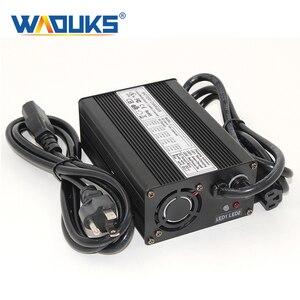 Черный алюминиевый чехол WAOUKS, безопасное стабильное зарядное устройство 42 в 4 а для литий-ионных и литиевых аккумуляторов 10S 36 В, тачка, балан...