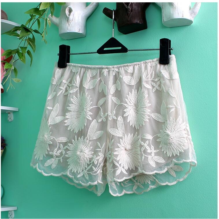 Casual Sleep Shorts Woman Sleeping Pants Elastic Waist Spring Summer Sexy Pajama Bottoms Plus Size Nightwear Woman Pants