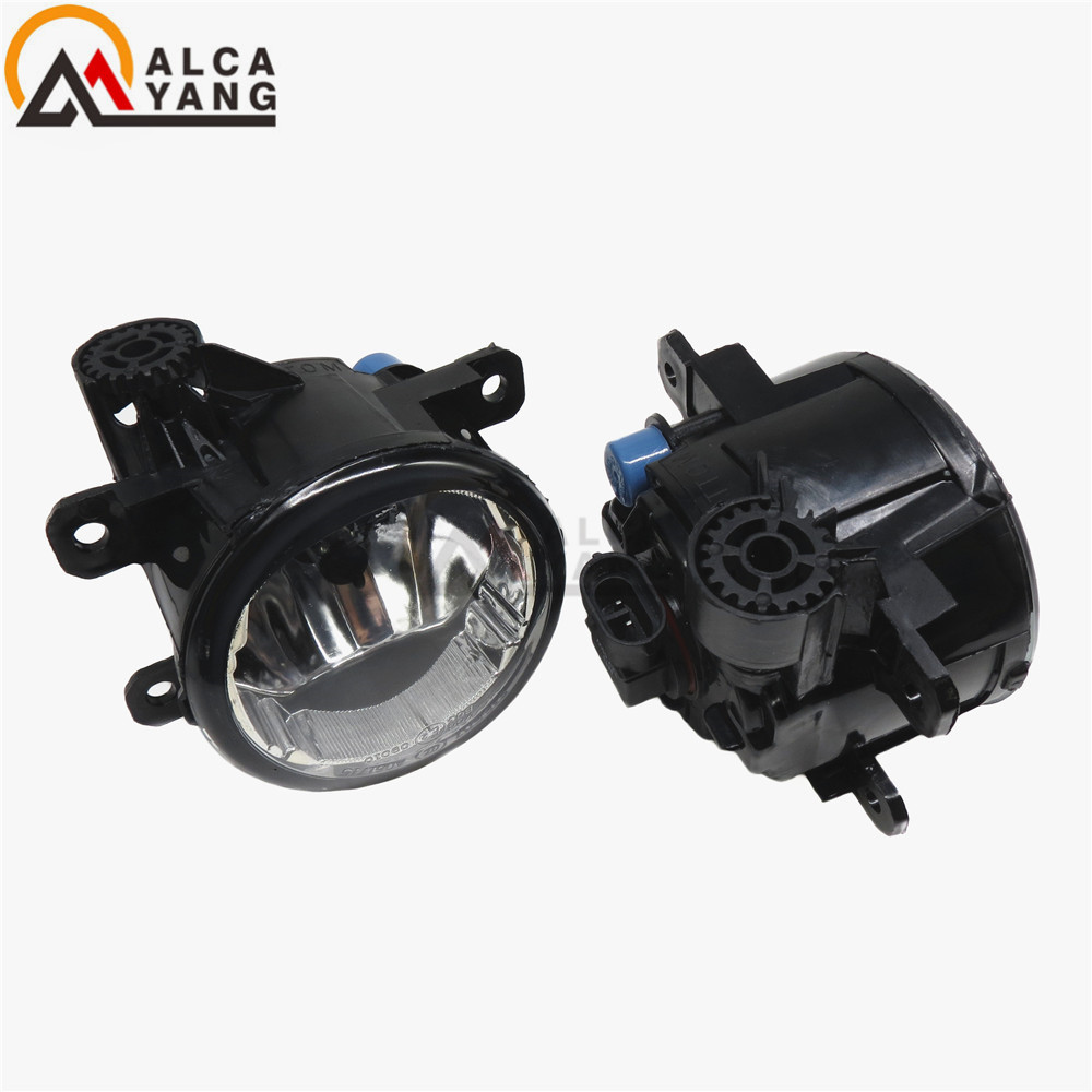 For Renault MEGANE 2/3/CC Fluence DUSTER Koleos SANDERO STEPWAY LOGAN Kangoo 1998-2015 Car styling Fog Lamps halogen Fog lights сетка на решетку радиатора renault sandero