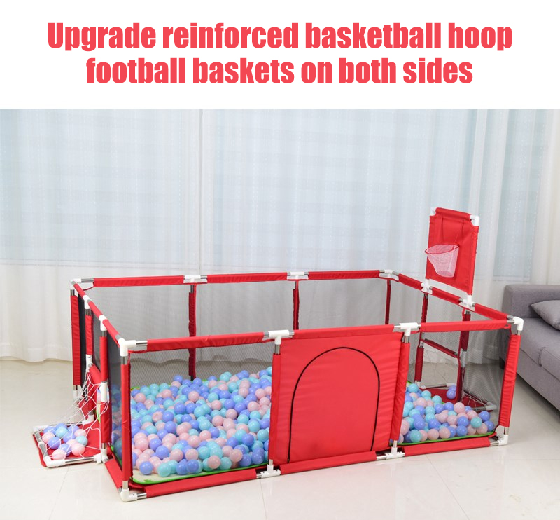 Baby Playpen Made With Stainless Steel Tube For Baby Pool Balls 12