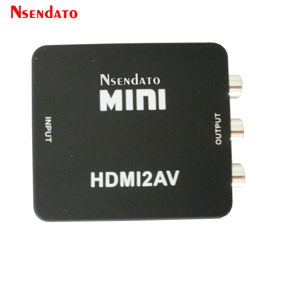 Mini HDMI To RCA Composite Audio Video AV CVBS Adapter Converter HDMI2AV HDMI RCA AV CVBS L R HD Video Box Support NTSC PAL ...