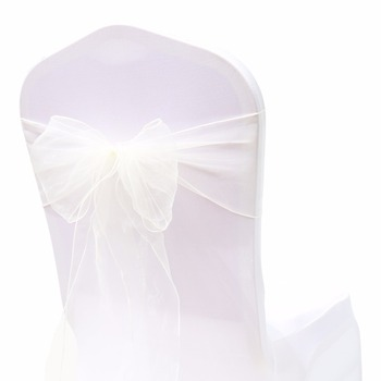 Wedding Organza Symmetry Sash For Party Chairs 3 Chair And Sofa Covers