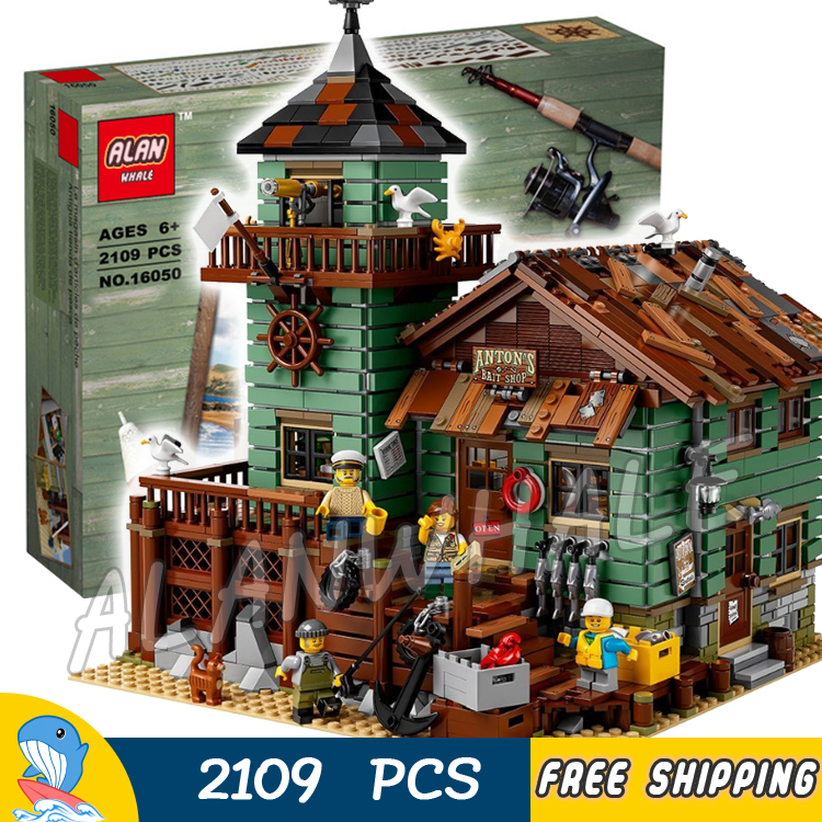 2109pcs New Ideas Old Fishing Store Captain Fisherman 16050 Model Building Blocks Collection Toys Bricks Compatible With lego куплю машину лада 2109 беушную