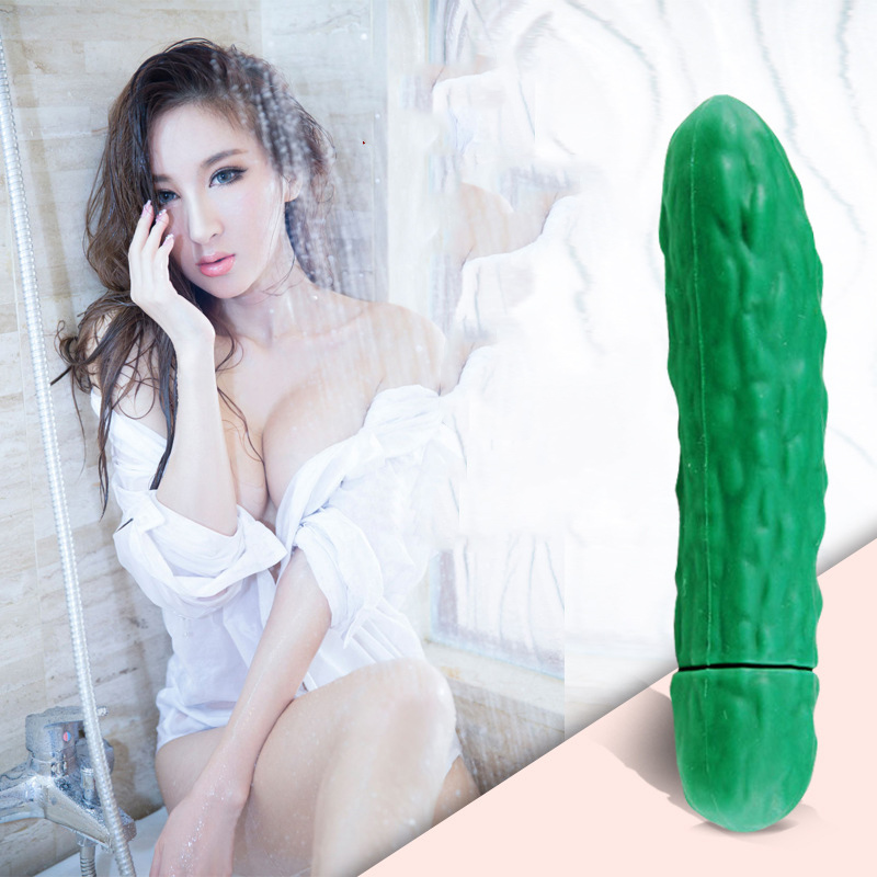 Cucumber massage stick Silicone g spot vibrator adult sex toys for woman big dildo anal double penetration