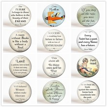 Quotes Refrigerator Magnet Set 12pcs 25MM Inspirational Letter Fridge Magnets Glass Magnetic Stickers Home Decor