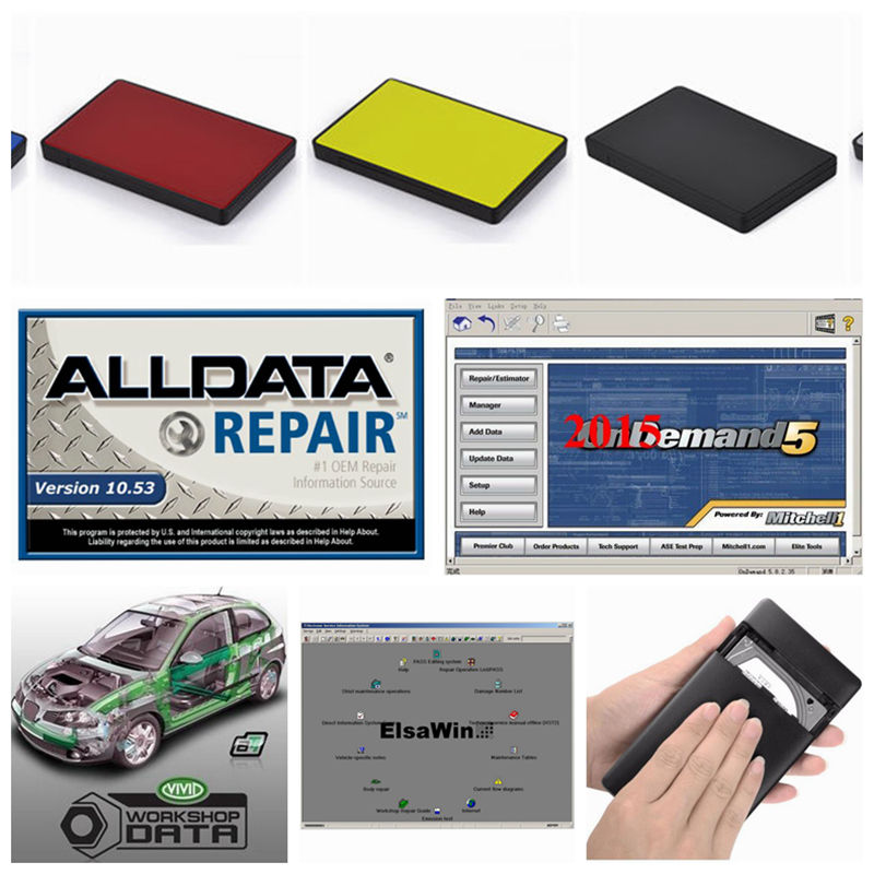 2018 All data Auto Repair alldata 10.53 Mitchell software Heavy duty Mitchell on demand 2015 Elsa ATSG Vivid tis2000 in 1tb hdd 2018 newest alldata 10 53 all data auto repair software alldata mitchell on demand 2015 elsawin vivid workshop alldata 1tb hdd