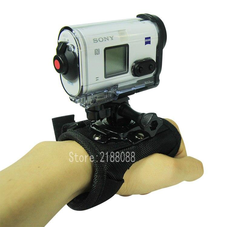 Glove Wrist Band 360 Degree Rotation Hand Strap Mount For Xiaomi Yi 4K Sony FDR X3000 HDR As300 As50 As100v As20 Action Camera
