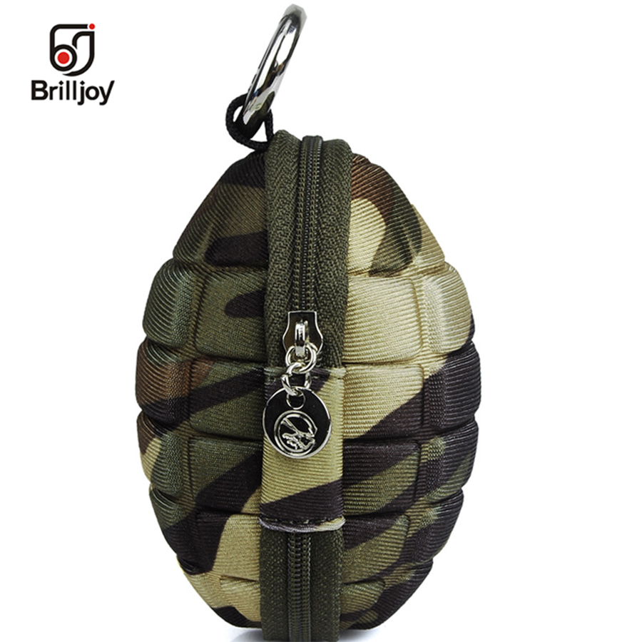 Brilljoy 2018 New Fashion Men Small Coin Bag Grenade shape Coin Purse Wallets Women PU Leather Bomb Key Holder Wallet BY12-42 youyou mouse lovely animal pattern coin purse pu leather zipper small coin purse key bag creative new style portable coin holder