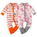 Recién nacidos de Los Mamelucos Ropa Para Bebés Niño Niña de Manga Larga Ropa de Deporte de La Moda Elástica Ropa de Bebé Mono Infantil