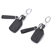 1 Pcs Car Key Case Cover Leather 4 Buttons Holder Chain For Honda Accord Civic CR-V CRV City Jazz Pilot Shell Protector