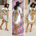 2016 Promotion Africa Bazin Riche African Women Clothing Newest Dashiki Fashion Dress Succunct Tranditional Print V Neck For