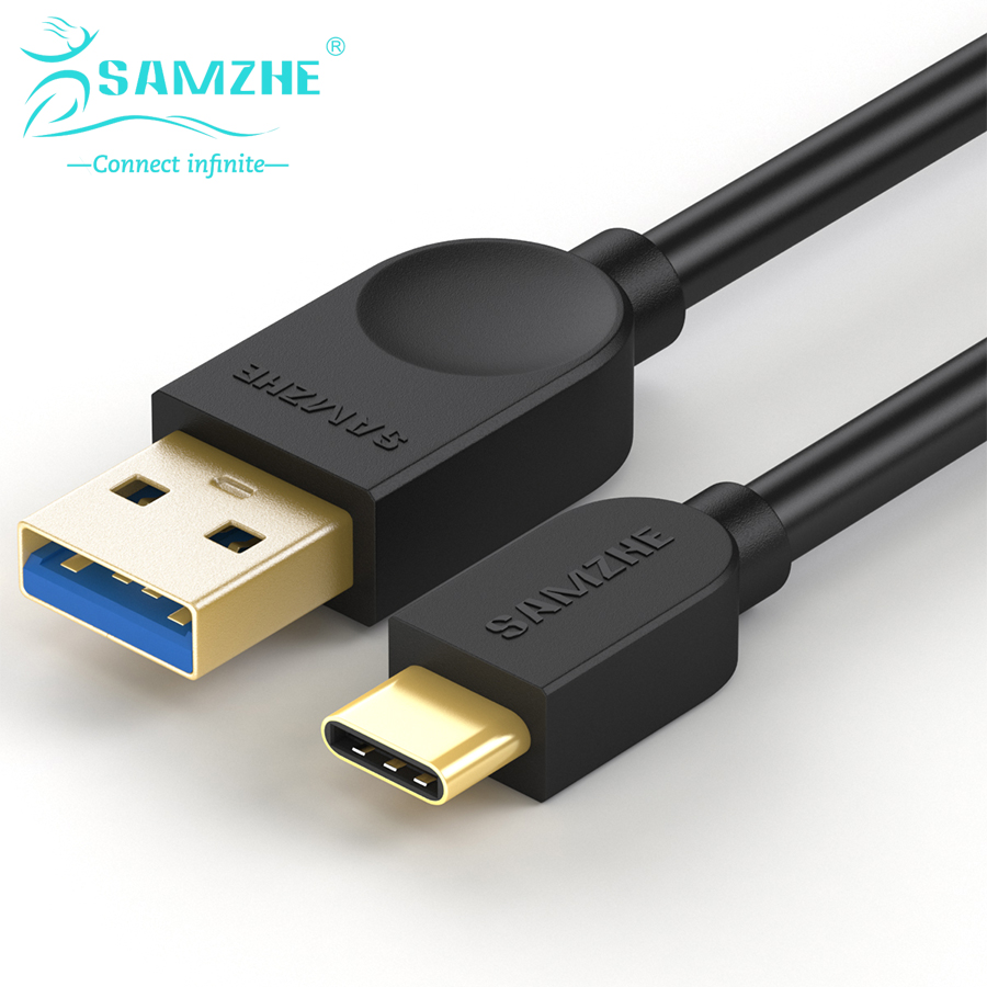 SAMZHE 5Gbps USB 3.0 Cable A Male to Type C Male Cable Charger for Xiaomi Nexus Phones Oneplus 2 Macbook Data USB Cable-in Data Cables from Consumer Electronics