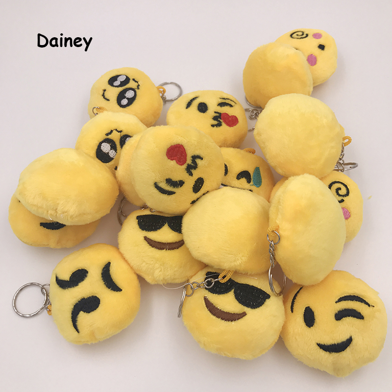 5PCS Cute Kawaii Smiley for Kids Model Gift School Supplies Anti Stress Reliever Keychain Embroidery Action & Toy Figures ATF03 [bainily]hot sale anti stress reliever ball toy resin relax doll stress relieve action figure novelty toys anti stress ball gift