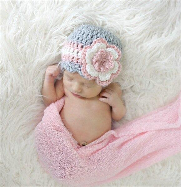 Bebé recién nacido del Ganchillo Sombrero Gorras, hecho a mano lindo ...