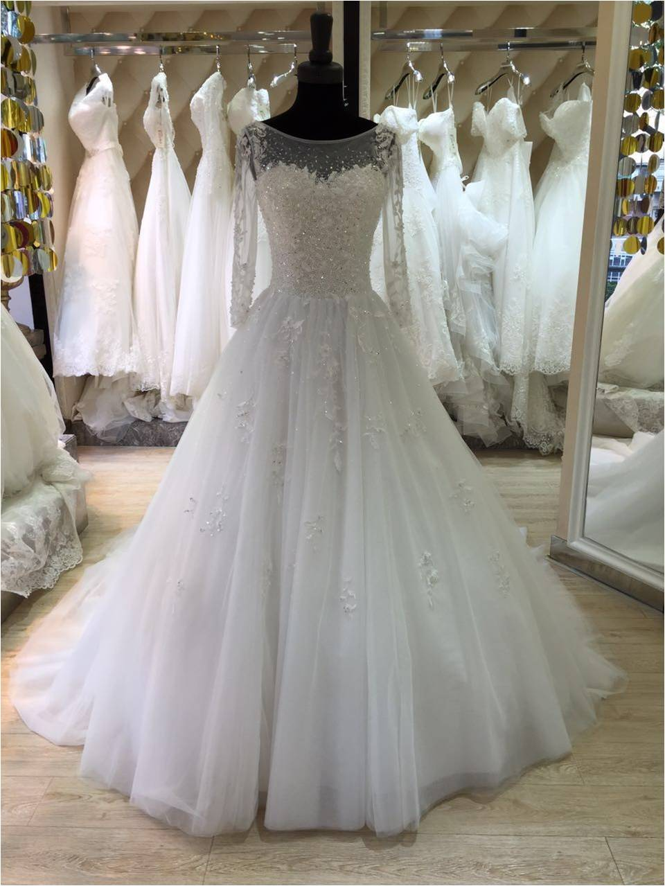 long sleeves real photos new 2016 long floor length custom made formal bridal gowns designs nw043