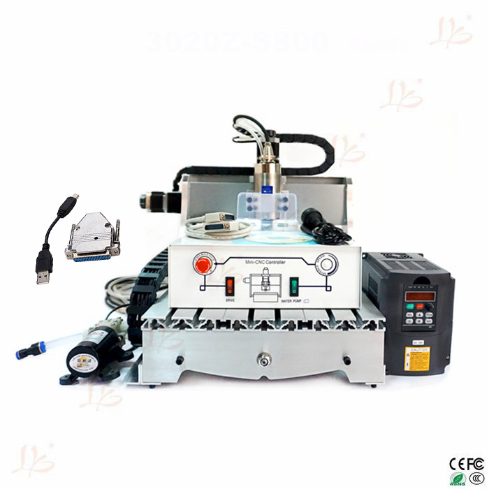 Free tax to Russia CNC milling machine 3040 ER11 with 0.8KW VFD water cooling spindle free tax