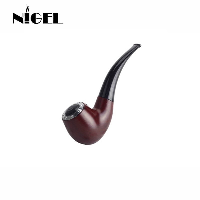 Nigel Mini E Pipe 628 Smoking Kit Best E Pipe Vaporizer New 618 Vape Mod Pipe Eletronic Cigarette Big Vapor Wooden E Cig Cheap durable imitation ivory cigarette holder 13mm filter smoking pipe man s gift