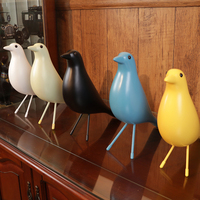 Brief and lovely bird resin Statues ornaments Fashion exquisite art resin crafts home decoration