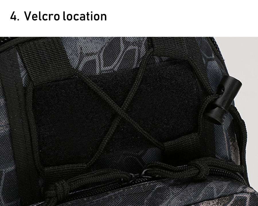 Tactical Bag Shoulder Molle Black (7)
