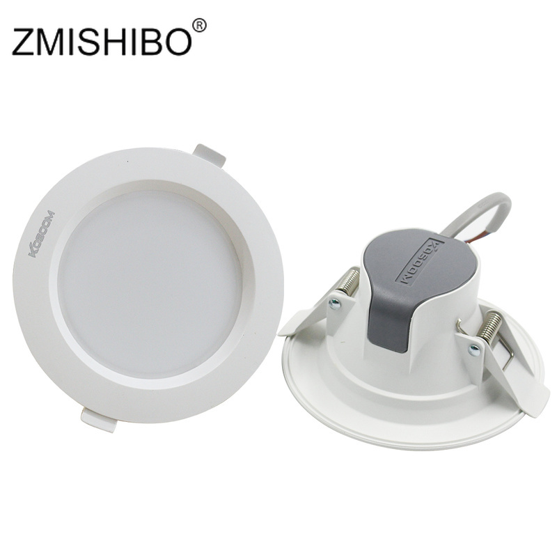 ZMISHIBO LED Recessed Ceiling Downlights Dimmable 5W 9W 24W 220V SMD Spot Lamp White Body 75mm 90mm 155mm Cut Hole Home LightingZMISHIBO LED Recessed Ceiling Downlights Dimmable 5W 9W 24W 220V SMD Spot Lamp White Body 75mm 90mm 155mm Cut Hole Home Lighting