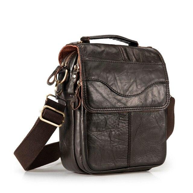 """Qualidade de couro original masculino casual ombro messenger bag moda cruz-corpo saco 8 """"almofada tote mochila saco 144 2"""