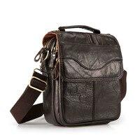Quality Original Leather Male Casual Shoulder Messenger bag Cowhide Fashion Cross body Bag 8 Pad Tote Mochila Satchel bag 144