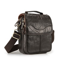 Quality Original Leather Male Casual Shoulder Messenger bag Cowhide Fashion Cross body Bag 8 Pad Tote Mochila Satchel bag 144