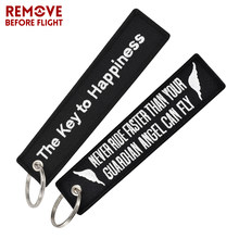 Fashion Key Tag Bijoux Keychain for Motorcycles The Key to Happiness Key Fobs Key Ring Chaveiro Remove Before Flight Brand Tag(China)