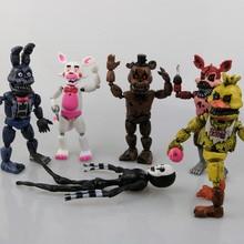 6 Pcs set Lima Malam Di Freddy  S Permainan Patung-patung Nendoroid 15 Cm  PVC Fnaf Freddy Anime Sosok Vinyl Boneka Mainan 5e036d87d8