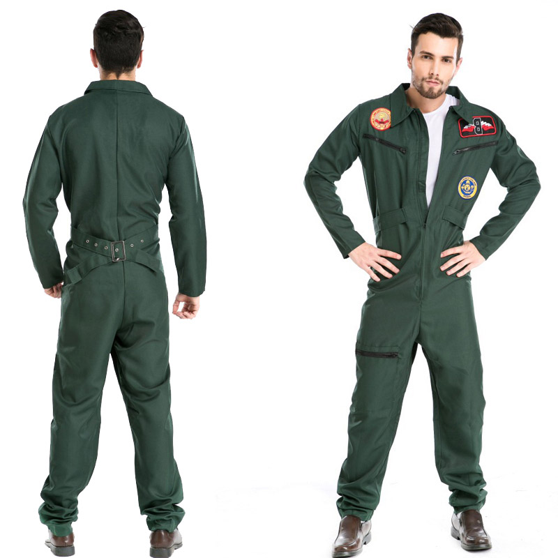 Europe and the United States Halloween pilots pilots trade foreign trade firefighters role-playing clothes Siamese costumes