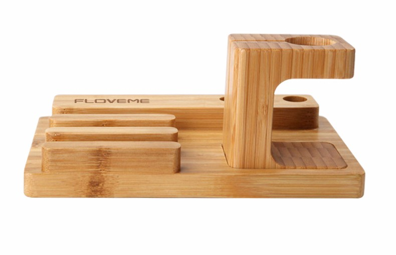 For iPhone Apple iWatch Wood Charge Holder (9)
