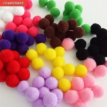 2017 NEW Crafts 100pcs/lot 10mm Multi option Pompoms Soft Pom Poms balls DIY Wedding Decoration Accessories