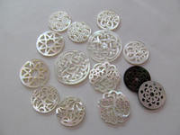 Batch Handmade Mop Shell Jewelry White Rose Carved Flower Tree Cabochon Shell Jewelry Spacer Beads Shell