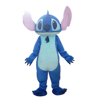 Export High Quality Big Ear Blue Monster Costumes Stitch Mascot Costumes for Halloween party costumes