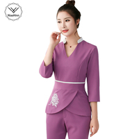 Women Workwear 2pcs Sets Female Hospital Nurse Uniforms Wholesales Beauty Clothing Beautician Medical Work Clothes Nurse Uniform