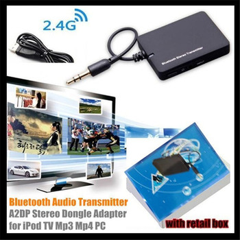 10p! Mini 3.5mm Wireless Bluetooth Audio Transmitter A2DP Stereo Dongle Adapter For TV Mp3 Mp4 PC Bluetooth Audio Music Receiver