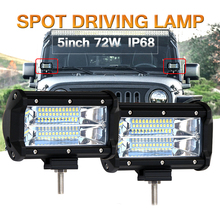 COLIGHT LED Light Bar 6000K 72W 5 inch Spot Beam Auto Led Work Light Driving Lamp