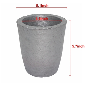 Image 3 - 6# Silicon Carbide Graphite Crucibles for Carbide Furnace Coke Oven Electric Furnace Torch Melting Casting Refining Gold Silver