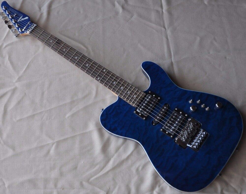 FIREHAWK Usine Personnalisé Tele Guitare telecastor bleu couleur TL guitares magasin d'instruments de musique