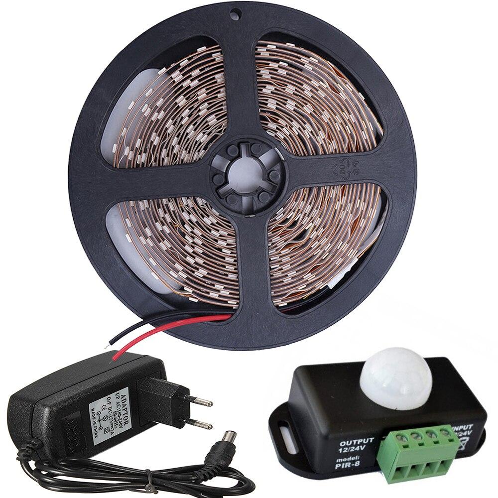 5M 2835 Tira de luz LED PIR 12 V Sensor de noche Sensor infrarrojo - Iluminación LED