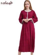 c62d5fc0f5 Fdfklak M-XXL plus size women sexy lingerie sleepwear nightgown women  nightdress long sleeves night