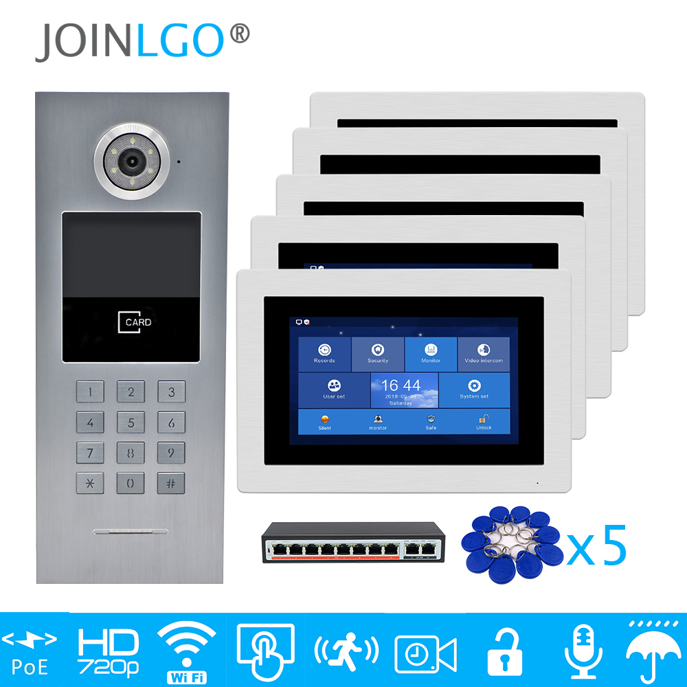 Free Shipping 5 Apartments POE 720P IP Wifi 7