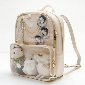 8cb590fa67f3 HANSOMFY Transparent Women Backpacks Student Schoolbags
