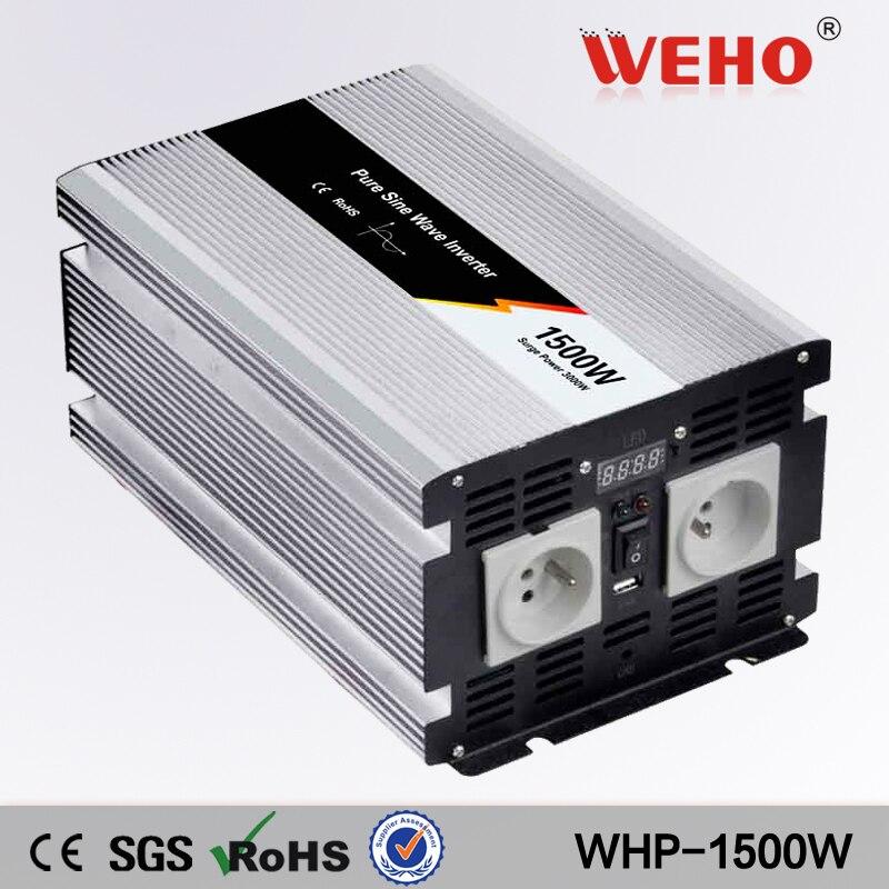 все цены на (WHP-1500-241)24v dc to ac 110v 1500W Pure Sine Wave inverter онлайн