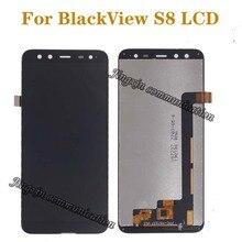 5.7 inç orijinal ekran BlackView için S8 LCD + dokunmatik ekran digitizer bileşenleri için blackView s8 LCD ekran onarım parçaları