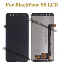 5.7 inch originele display voor BlackView S8 LCD + touch screen digitizer componenten voor blackView s8 lcd scherm reparatie onderdelen