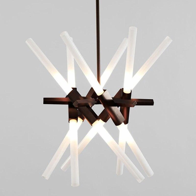 Nordic Style LED Crystal Pendant Lamp Modern Creative Bar Lamp Reception Desk For Shop Hotel Office Engineering Lighting